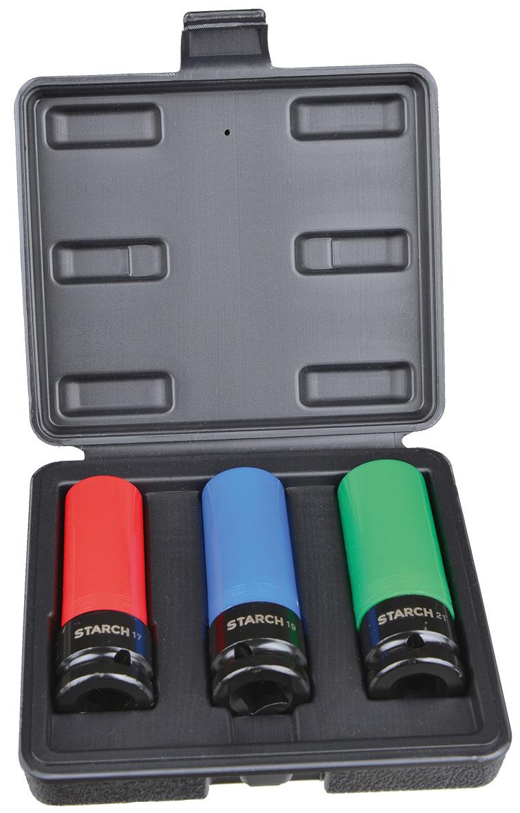 Steckschlüsselsatz 1/2 Zoll in Kunststoffbox, 3-teilig Image